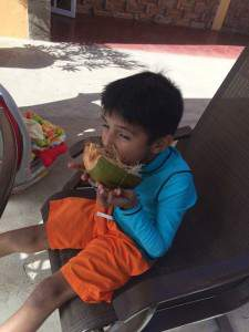 A boy and his coconut (Mazatlan, Mexico)