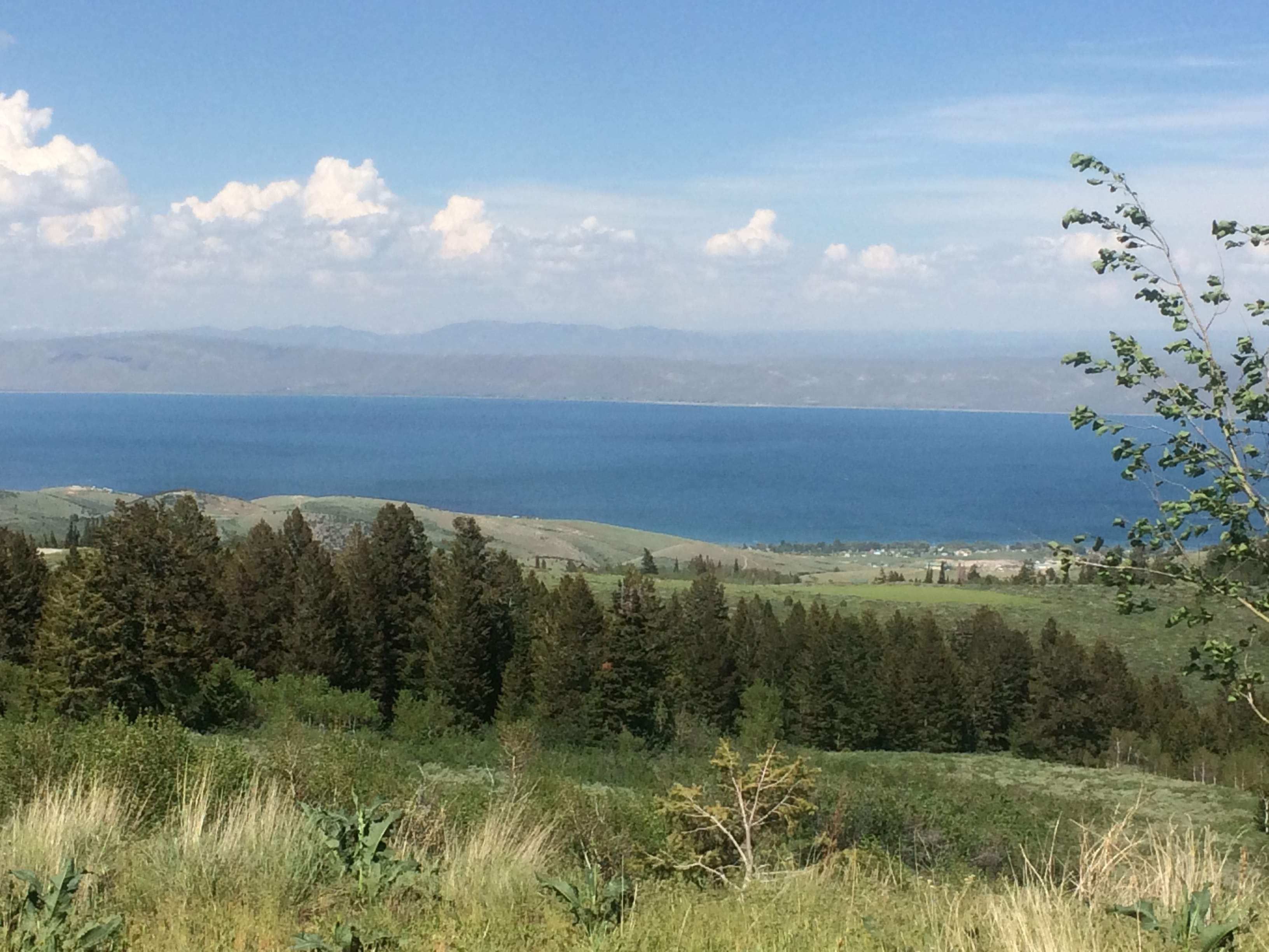 First glimpse of Bear Lake