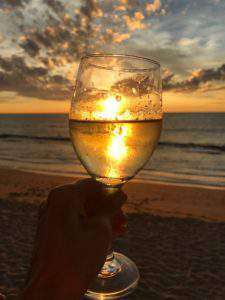 Wine and sunset--two of my favorite things