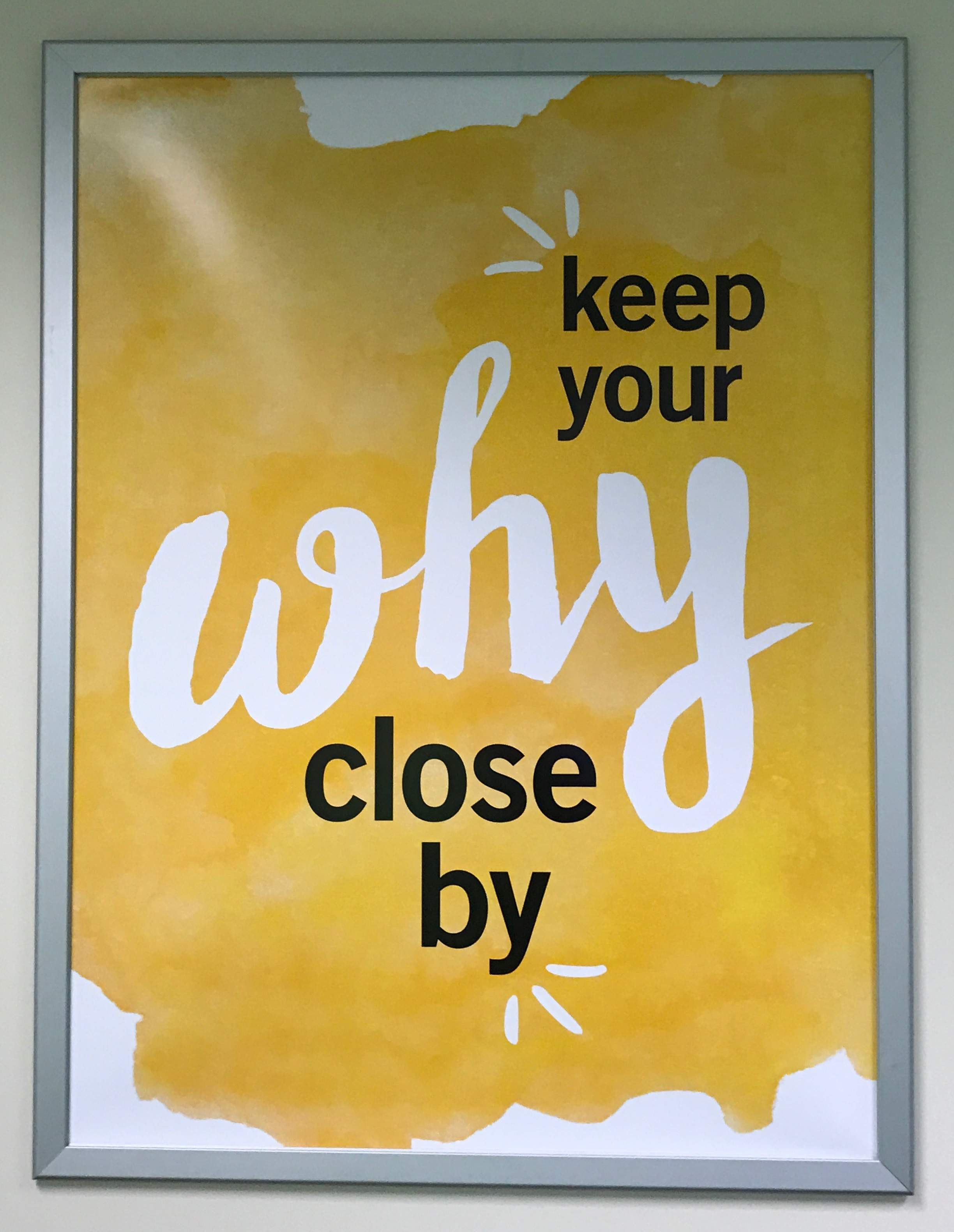 Weight Watchers: keep your why close by
