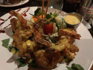 Delicious coconut shrimp