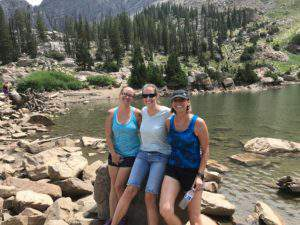 Ashley, Christie, and Cindy at Cecret Lake