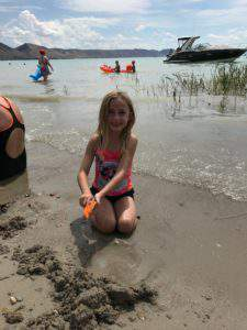 Building sand castles at Bear Lake