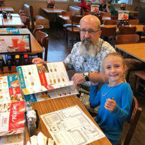 Papa and Piper at iHOP