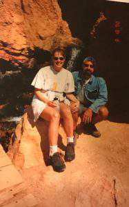 Friday favorites: celebrating 19 years of marriage. Hiking Cascade Springs in 2000.