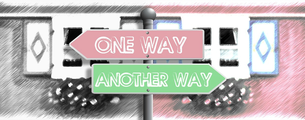One way another way sign