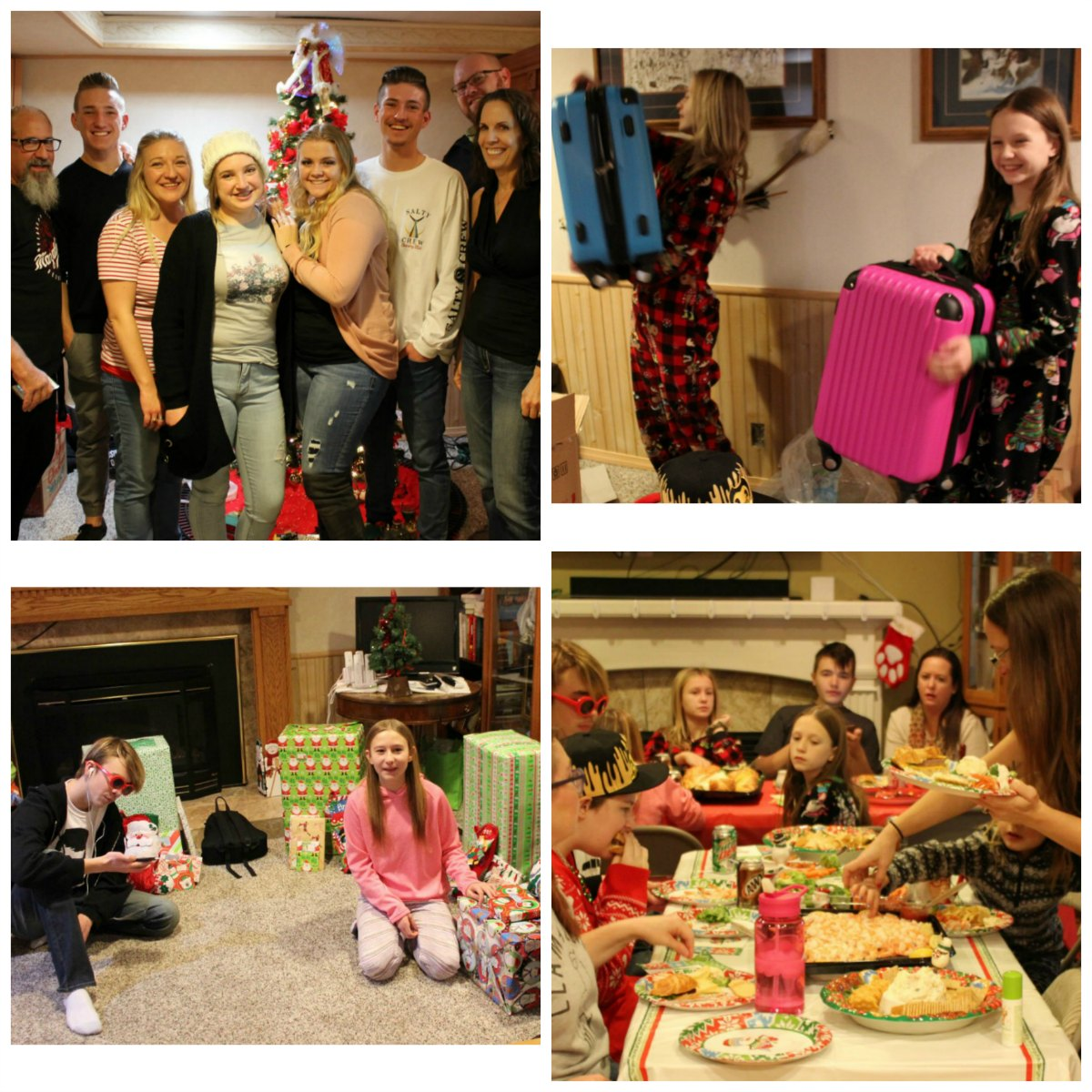 Christmas celebration collage