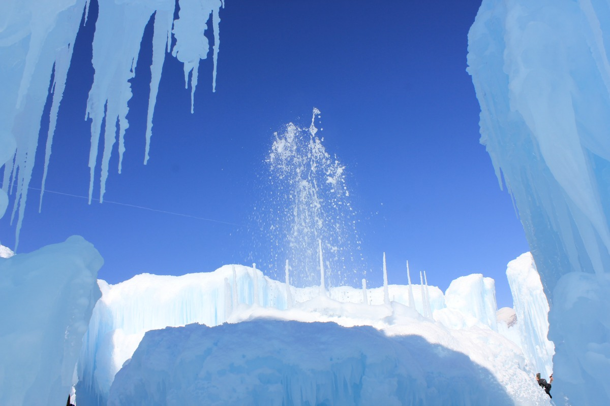 Ice Castle fountain