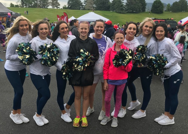 Jazz dancers at Girls on the Run 5k