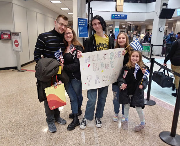 Family at the airport.